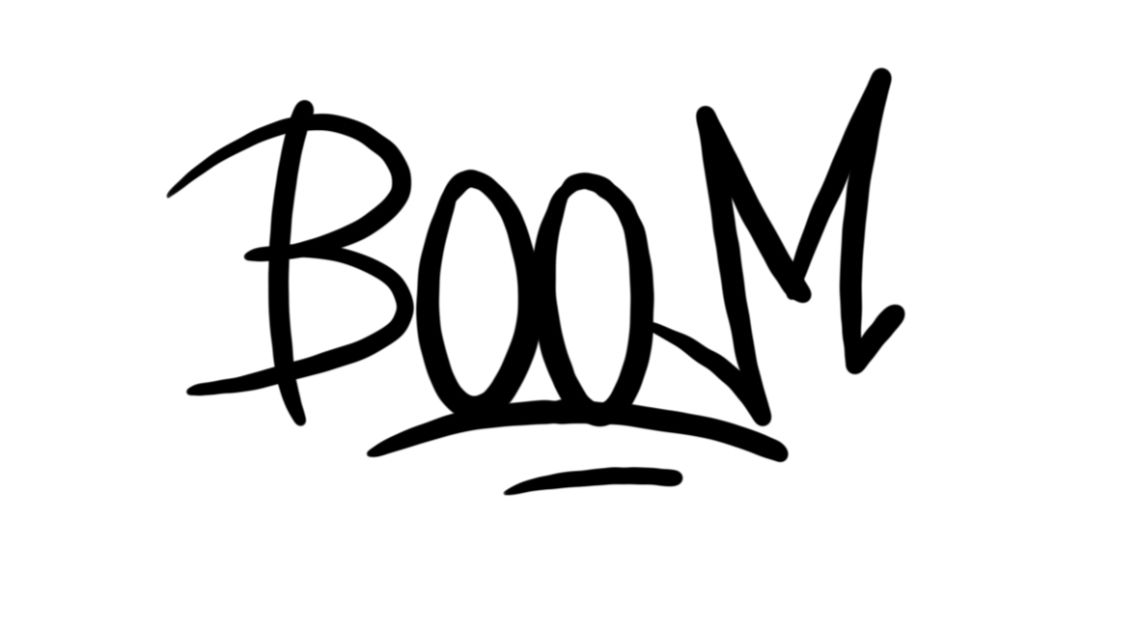 Boom Graffiti Sketching - Step 1 graphic