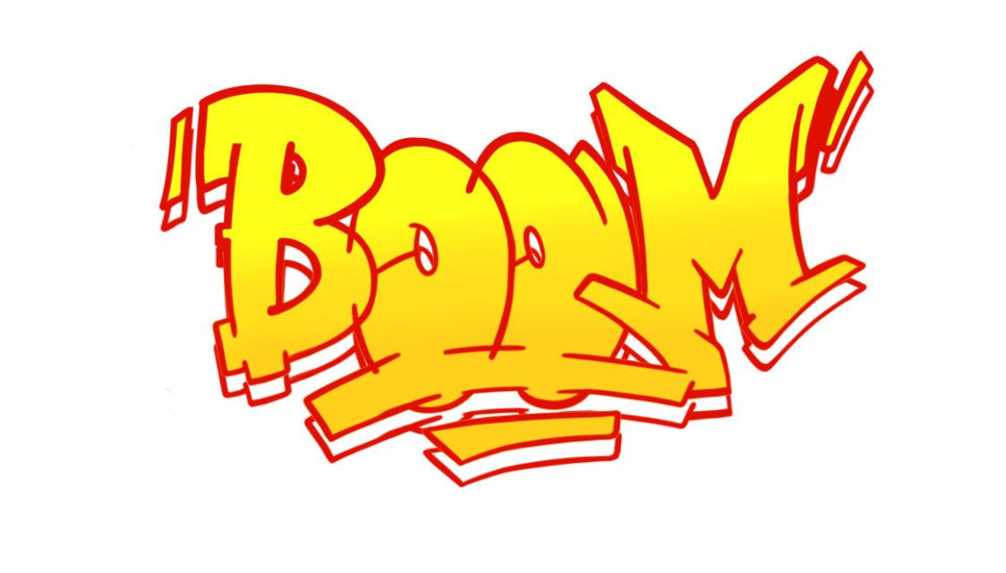 Boom Graffiti Sketching - Step 10 graphic