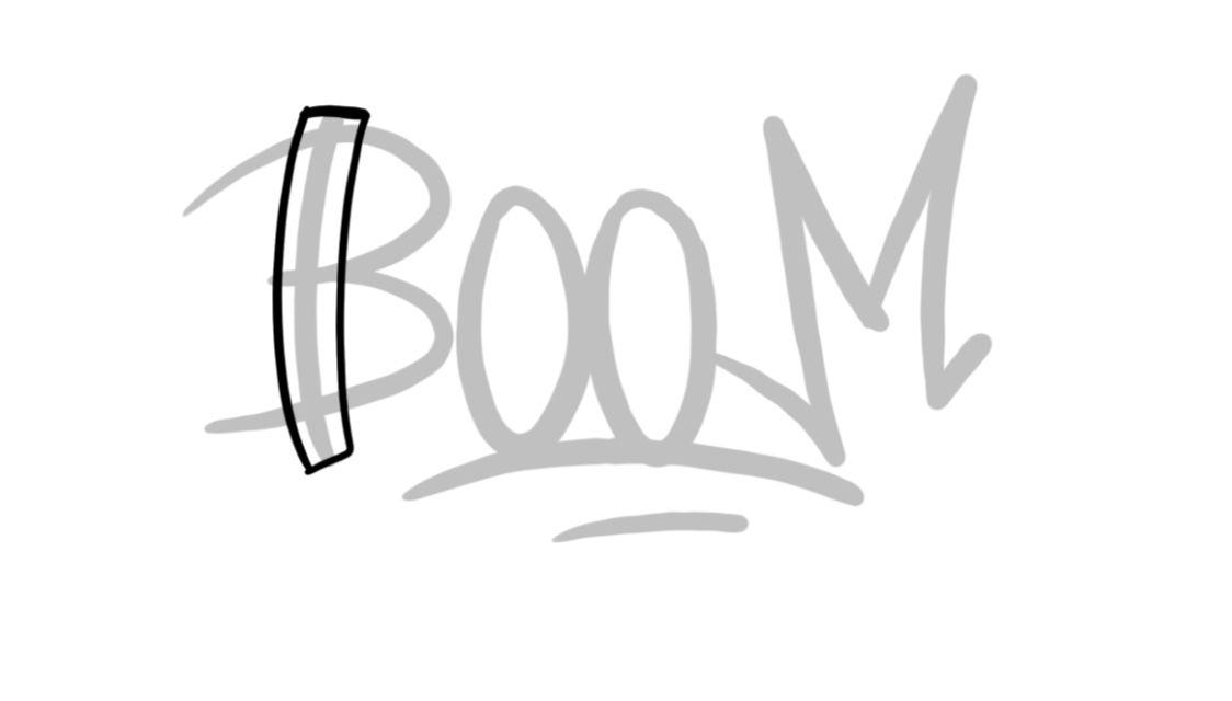 Boom Graffiti Sketching - Step 2 graphic