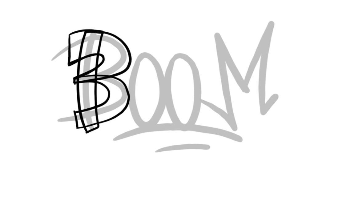 Boom Graffiti Sketching - Step 4 graphic
