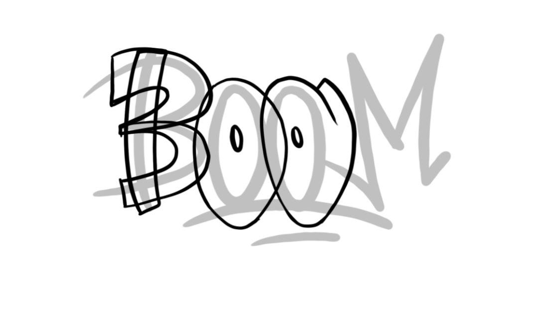 Boom Graffiti Sketching - Step 5 graphic