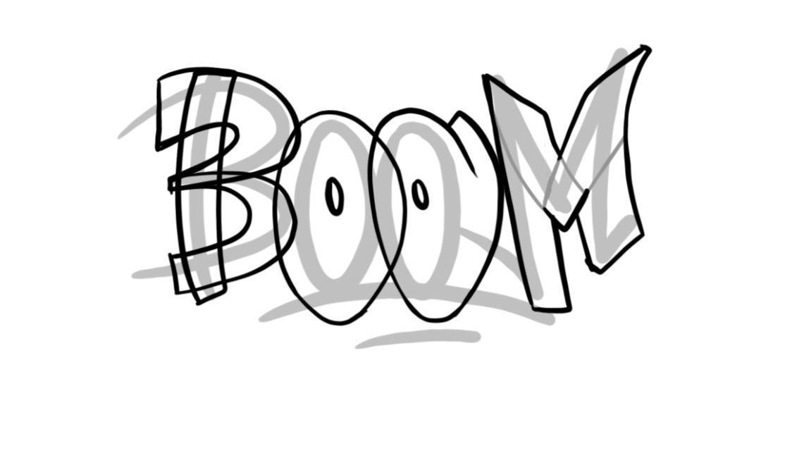 Boom Graffiti Sketching - Step 6 graphic