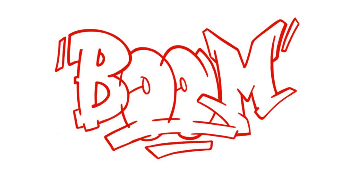 Boom Graffiti Sketching - Step 8 graphic