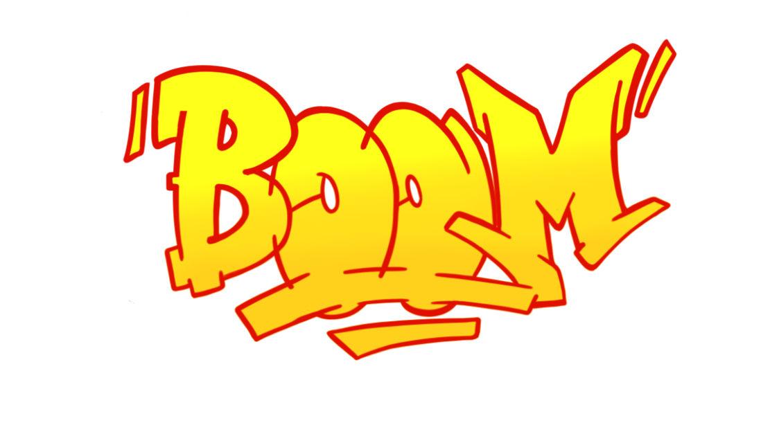 Boom Graffiti Sketching - Step 9 graphic