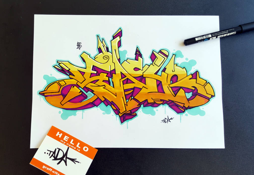 Wildstyle easy graffiti sketch picture