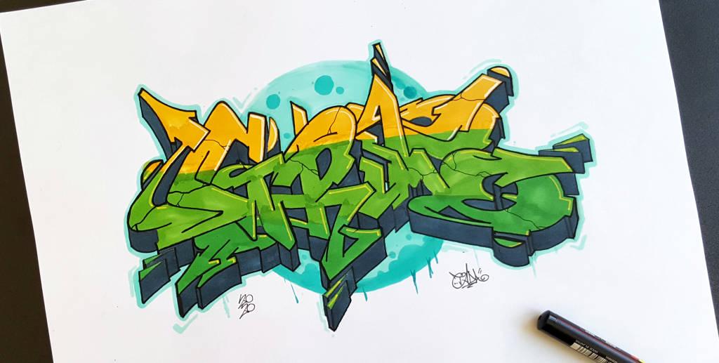 Grim graffiti sketch rework