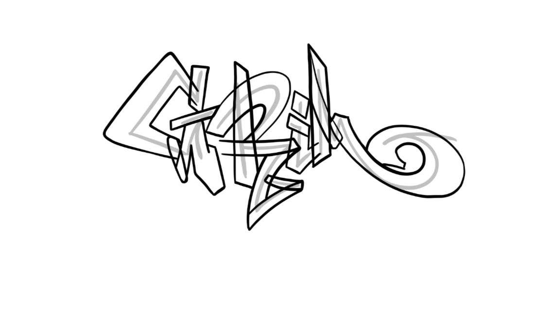 Grim Graffiti Sketch Tutorial Step 2 graphic