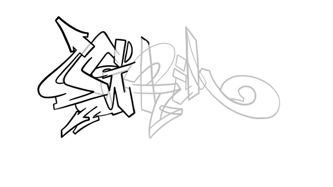 Grim Graffiti Sketch Tutorial Step 3 graphic