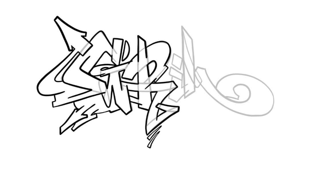 Grim Graffiti Sketch Tutorial Step 4 graphic