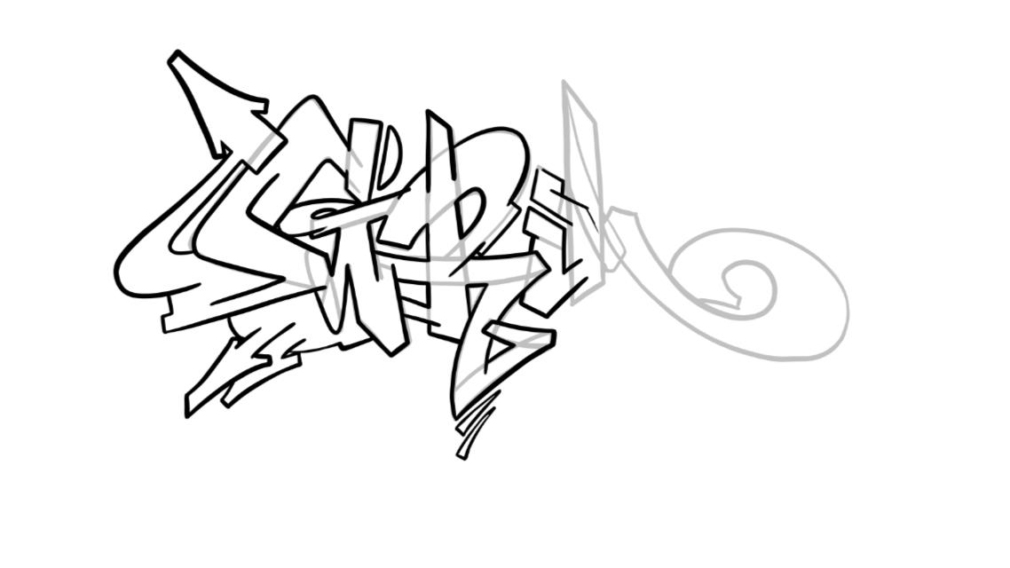 Grim Graffiti Sketch Tutorial Step 5 graphic