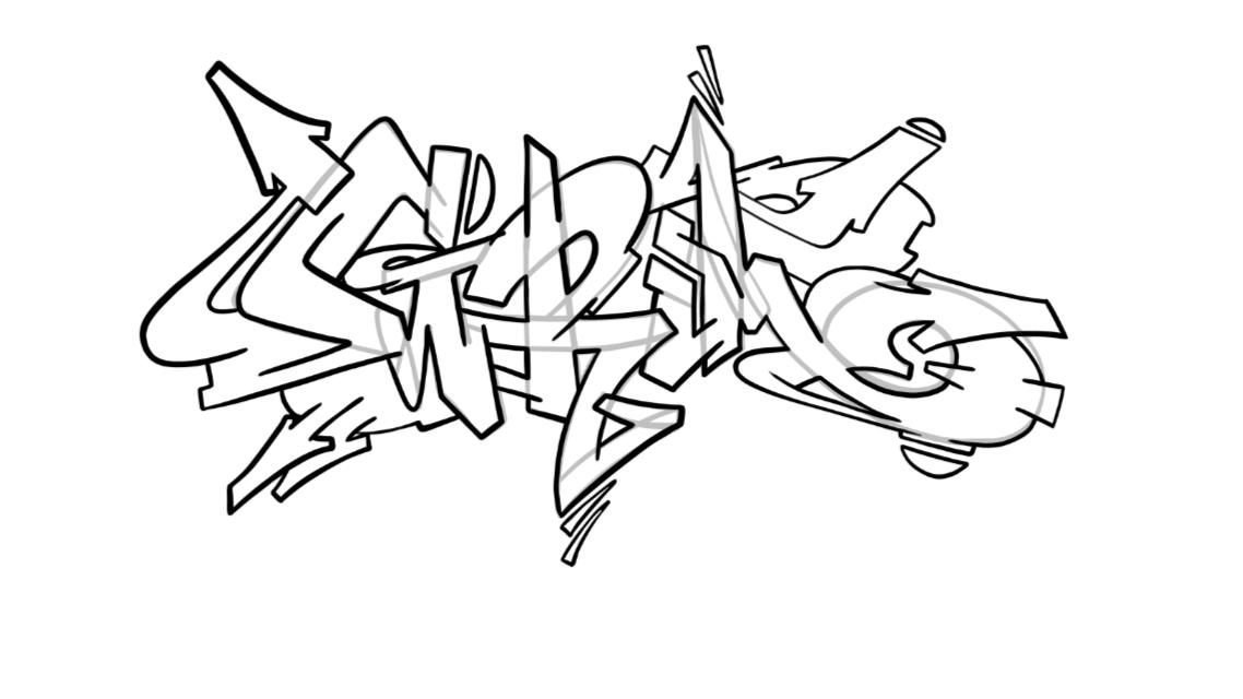 Grim Graffiti Sketch Tutorial Step 6 graphic