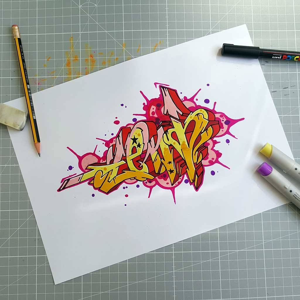 Leni Graffiti Sketch coloring