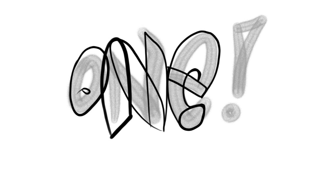 One Graffiti Sketch Tutorial Step 2 graphic