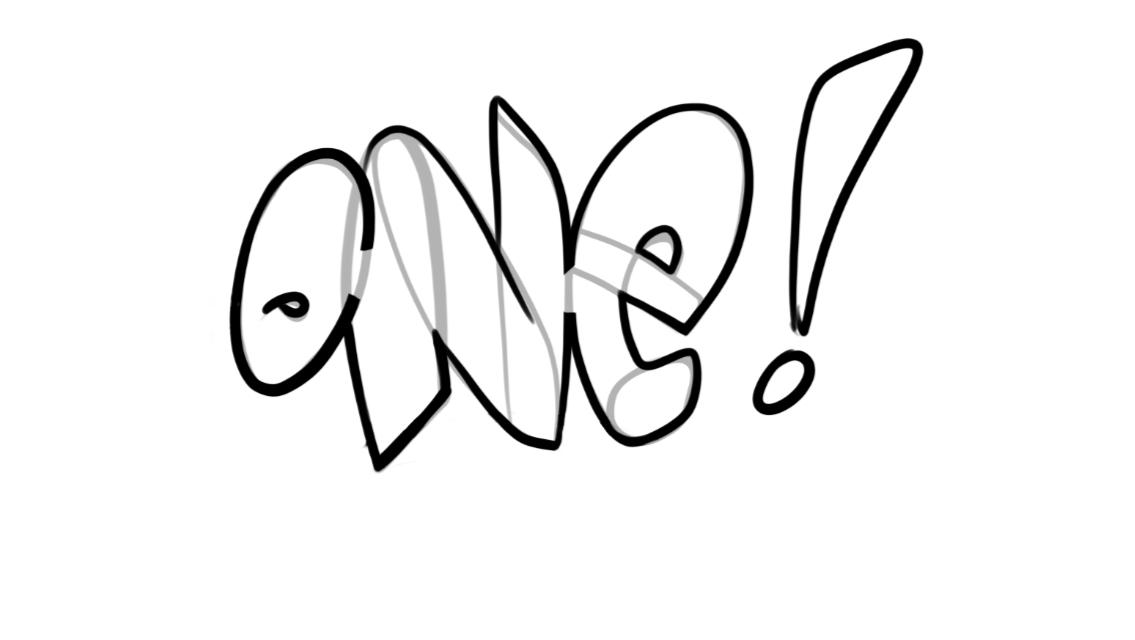 One Graffiti Sketch Tutorial Step 3 graphic