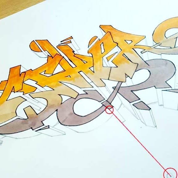 howo to draw graffiti mockup