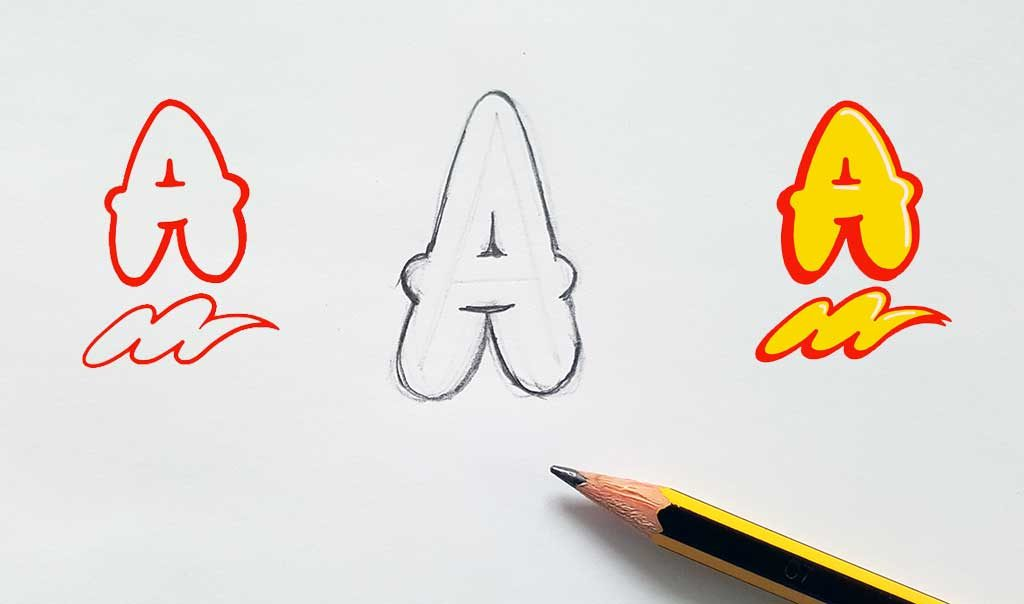 How to draw bubble style graffiti letters thumbnail