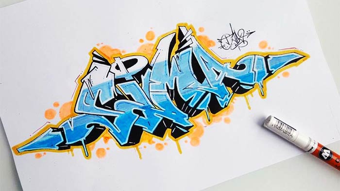 "Graffiti Sketch ""Sima"""
